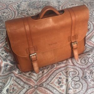 Kenneth Cole Reaction Computer Leather Satchel